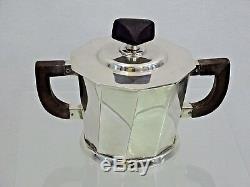 WONDERFUL WMF SILVER PLATED TEA SET MODERN DESIGN Germany