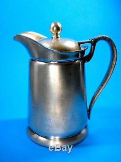 Waldorf Astoria 14 Ounce Pitcher International Silver Co. 1932 Coffee Tea Water