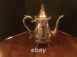 Wallace 1100 La Reine Silver Plated 5-pc Tea Set
