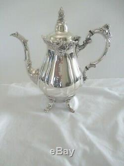 Wallace Baroque Footed 7 Pc Tea/coffee Set #281-285 + #294 Tray-elegant