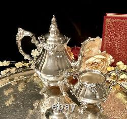 Wallace Baroque Silver Plated Tea Set Candlesticks Tray Coffee Pot Discounted