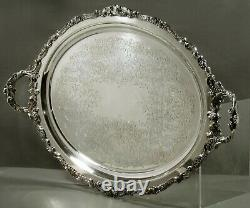 Wallace Silver Tea Set Tray c1950 BAROQUE