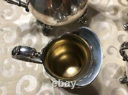 Webster Wilcox IS American Rose7301 to 7304 International Silver Co. Tea Set
