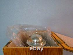 Wedding Silver Plate Samovar Coffee Urn With Burner Tea Warmer Hot Water Dispens