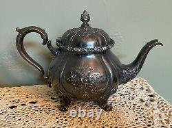 Wilcox International Silver Co Du Barry (Tea Set, 7 Piece, Silverplate)