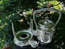 Wilcox Silverplate 5021 Ornate Tilting Coffee/Tea Pot withStand Quadruple Plate